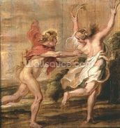 Apollo and Daphne, c.1636 (oil on panel) wall mural thumbnail