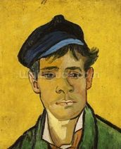 Young Man with a Hat, 1888 (oil on canvas) mural wallpaper thumbnail