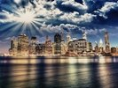 Lower Manhattan from Brooklyn wall mural thumbnail