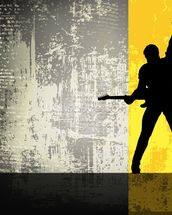 Rock Guitarist wall mural thumbnail
