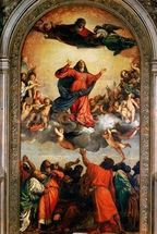 The Assumption of the Virgin, 1516-18 (oil on canvas) wall mural thumbnail