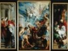 The Martyrdom of St. Stephen, c.1617 (oil on panel) wall mural thumbnail