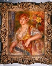 Blonde woman with a rose, c.1915-17 (oil on canvas) mural wallpaper thumbnail