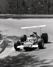 Jo Siffert in a Lotus 49 (Spanish Grand Prix 1969) wallpaper mural thumbnail