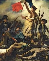 Liberty Leading the People, 28 July 1830 (oil on canvas) (for detail see 95120) wall mural thumbnail