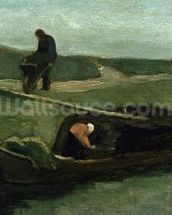 The Peat Boat, 1883 (oil on canvas) wallpaper mural thumbnail