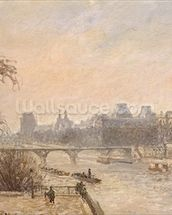 The Seine and the Louvre, 1903 (oil on canvas) wallpaper mural thumbnail
