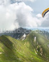 Paraglider in the Mountains wall mural thumbnail