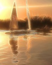 Light Float Boats wall mural thumbnail
