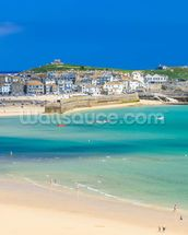 St Ives Beach mural wallpaper thumbnail