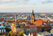 Hannover Skyline mural wallpaper thumbnail