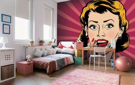 Pop Art Wallpaper. Wall Mural Wallpaper  sc 1 st  Wallsauce.com & Pop Art Wallpaper u0026 Wall Murals | Wallsauce USA