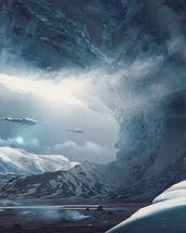 Big Game Ice Planet mural wallpaper thumbnail