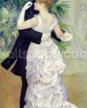 Dance in the City, 1883 (oil on canvas) wall mural thumbnail