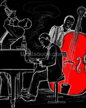 Jazz Trio mural wallpaper thumbnail