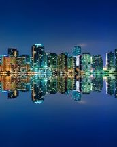 Miami Skyline wall mural thumbnail