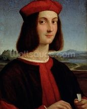 Portrait of the Young Pietro Bembo, 1504-6 wallpaper mural thumbnail