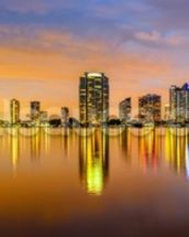Miami Biscayne Bay Skyline wallpaper mural thumbnail