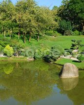 Landscaped Gardens wallpaper mural thumbnail