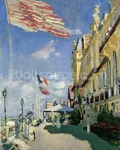 The Hotel des Roches Noires at Trouville, 1870 (oil on canvas) wallpaper mural thumbnail