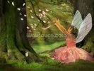 Feather Fairy wall mural thumbnail