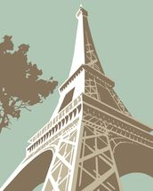Eiffel Tower wall mural thumbnail