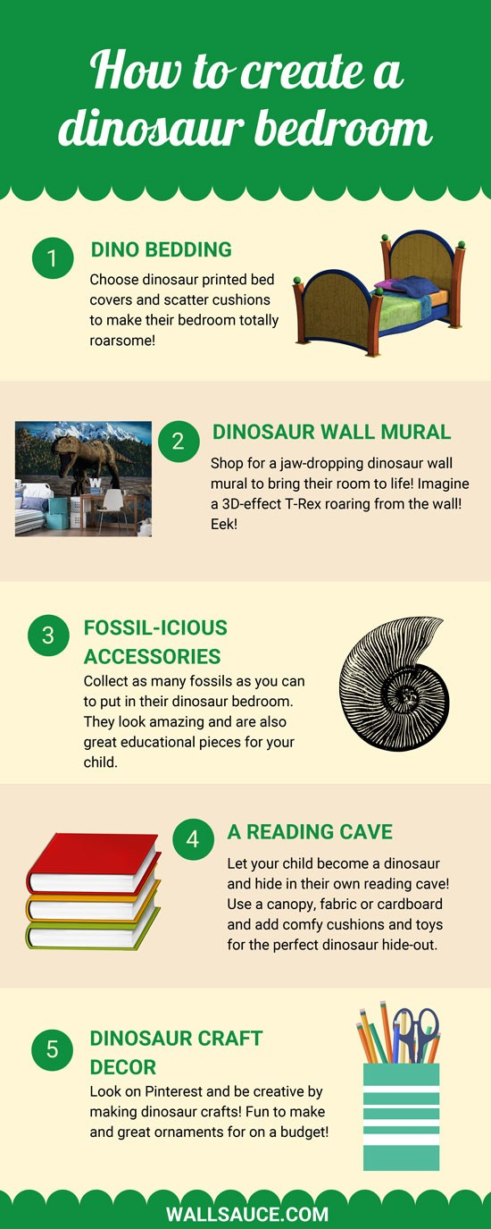 dinosaur bedroom info graphic