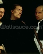 Interrupted Concert, c.1512 (oil on canvas) mural wallpaper thumbnail