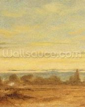 Summer - Evening Landscape (oil on canvas) wall mural thumbnail