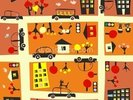 Autumn Street Map wall mural thumbnail