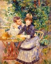 In the Garden, 1885 (oil on canvas) wall mural thumbnail
