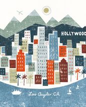 Colourful Los Angeles mural wallpaper thumbnail
