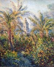 Garden in Bordighera, Impression of Morning, 1884 (oil on canvas) wallpaper mural thumbnail