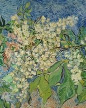 Blossoming Chestnut Branches, 1890 (oil on canvas) wall mural thumbnail