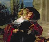 The Garden of Love, c.1630-32 (oil on canvas) (detail of 36860) wall mural thumbnail