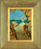 The Ballet Dancer, 1891 (oil on mahogany panel) (see 141384) mural wallpaper thumbnail