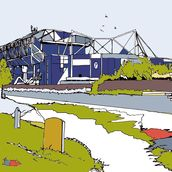 Stamford Bridge mural wallpaper thumbnail