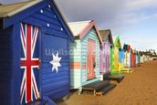 Brighton Bathing Boxes mural wallpaper thumbnail