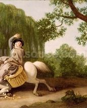The Farmers Wife and the Raven, 1786 (oil on millboard) wall mural thumbnail