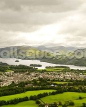 Lake Derwentwater wallpaper mural thumbnail
