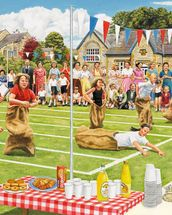 School Sports Day wall mural thumbnail