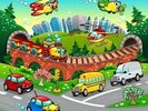 Cartoon Road wall mural thumbnail