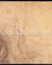 Study of an angel (charcoal on paper) (verso) wallpaper mural thumbnail