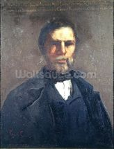 Portrait of Theodore Cuenot, 1847 (oil on canvas) mural wallpaper thumbnail