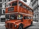 London Bus Colourwash wall mural thumbnail