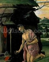 St. Jerome, 1490s (tempera on panel) wallpaper mural thumbnail