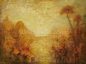Landscape (oil on canvas) mural wallpaper thumbnail