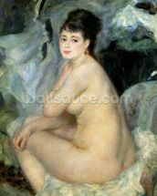 Nude, or Nude Seated on a Sofa, 1876 wallpaper mural thumbnail