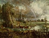 Salisbury Cathedral From the Meadows, 1831 (oil on canvas) (see 188984-188985 for details) wallpaper mural thumbnail