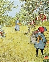 The Apple Harvest mural wallpaper thumbnail